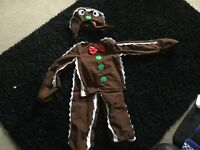 Child's gingerbread man costume size 4-6