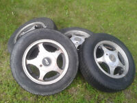 "Honda Civic 13"" tires and Eagle Alloy Rims"