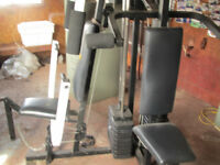 WEIGHT TRAINING by WEIDER, FOLDING TREADMILL, CCM EXERCISE BIKE
