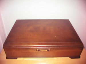 Solid Wood Vintage Cutlery Chest