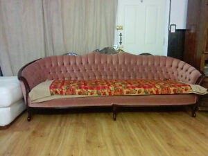 antique sofa for sale with single arm chair