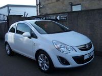 12 62 REG VAUXHALL CORSA ACTIVE 3DR WHITE 1 LADY OWNER LEATHER BLUETOOTH £30 TAX