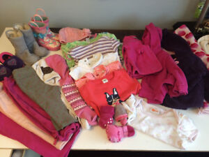 Baby girl fall/winter clothes 18-24 months