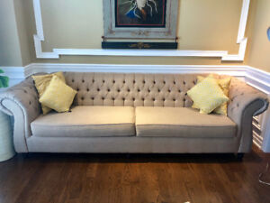 Moving Sale-Fabric 4 seater sofa - Restoration Hardware Design