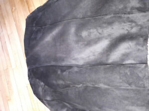 Womens cover up size large wore once faux suede London Fog