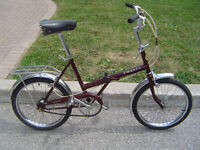Supercycle / Raleigh 20, 3 speed folding