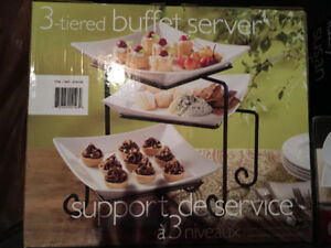 Three tiered Buffet Server