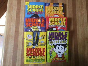 6 Middle School Books by James Patterson