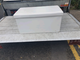 40. Leather storage chest