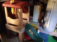 Toddler slide and ikea tent