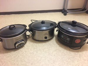3 slow cookers