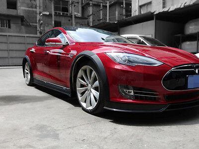 Tesla Model S Carbon Fiber Rear Side Skirts Body Kit