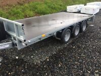 As New Ifor Williams LM146 tri axle trailer