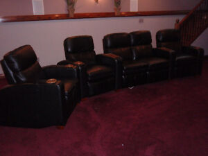 Home Theater Recliner set