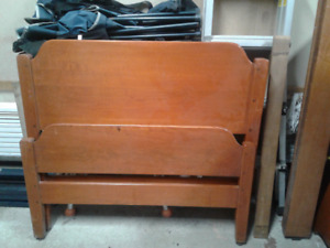 Solid maple single bed and dresser