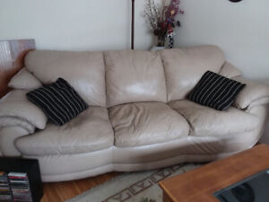 Leather Sofa  (Beige colour)