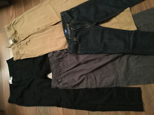4 prs of boys pants, Old Navy, size 14