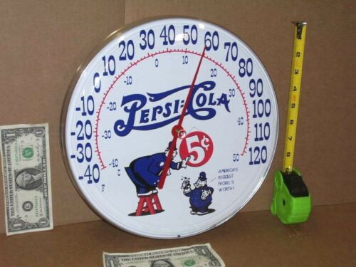PETER & PEPSI - The Pepsi-Cola Policeman / Cops --- ROUND 5c THERMOMETER -->NICE