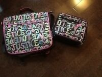 Justice shoulder bag and matching lunch bag
