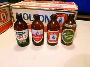 4 bouteilles de bieres style biberons