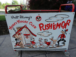 Vintage 1950's Mickey Mouse Club Push' Em Car In excellent Shape Kitchener / Waterloo Kitchener Area image 2