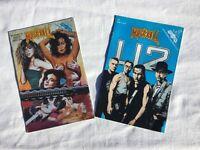 VERY RARE 1993 Rock N Roll Revolutionary Comics. U2 No 54 part 1. AND WOMEN IN ROCK VOL.1 NO.1.