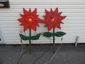 2 Outdoor Christmas Poinsettias For Sale - Excellent Condition