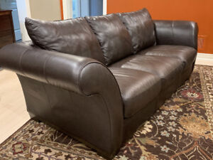 Brown Leather Couch - Italsofa for sale  Markham / York Region