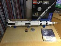 Lego Saturn v apollo rocket