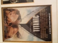 Titanic framed and autographed picture