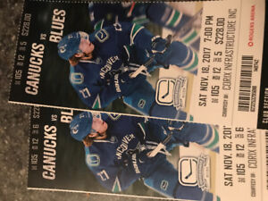 Canucks Tix for Sat night Club section