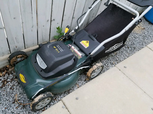 Yardworks Electric Lawn Mower & Grass Trimmer
