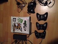 xbox360 24 games 4 controllers and turtle beach headset
