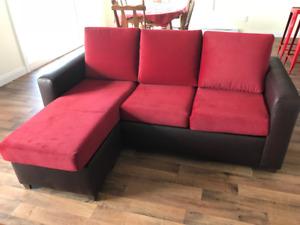 Magnifique canapé-lit presque neuf