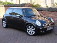 FINANCE AVAILABLE!! BLACK 55 REG MINI HATCH 1.6 COOPER 3dr, HALF LEATHER,