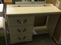 White dressing table (with mirror and stool)