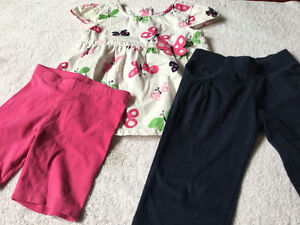 Gymboree/Old Navy/TCP Butterfly Top with Crop Pants/Short Set 3