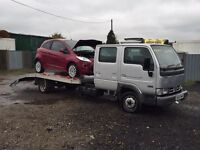 2005 55 plate Nissan cabstar crew cab recovery truck