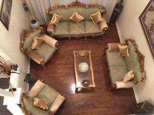 Royal,hand carved, Rosewood Gold Sofa, Jhula, Couch &Peerhi set!