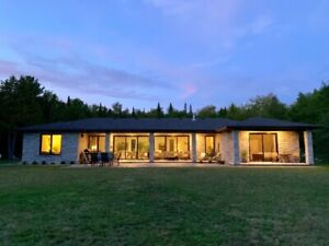 Stone Bungalow on 50+ Acres, Minutes from Wiarton