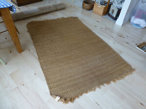 Two Jute Carpets, professionally cleaned