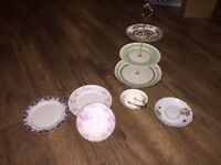Vintage cake stand and side plates