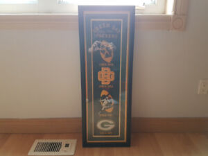 Green Bay Packers Framed Heritage Banner
