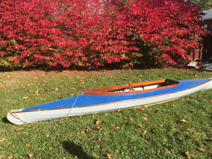 Antique double kayak