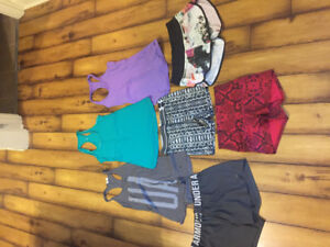 Women's workout clothes (under armour and lululemon