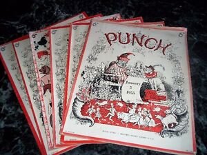 Collectible Punch magazines
