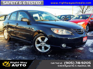 2005 Mazda Mazda3 GT  | NEW TIRES | 148Km | SAFETY & E-TESTED