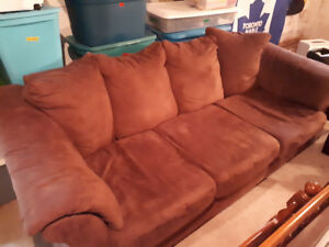 Microswade Brown couch .