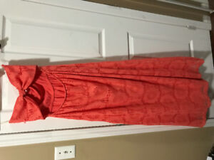 Coral Sweetheart tube maxi dress