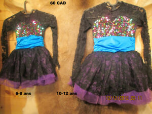 5-60$ patinage artistique ROBES show,test, danse, 6,8,10,12 ans